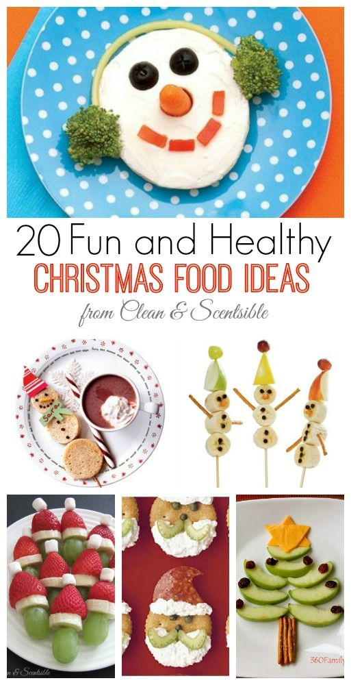 Fun and healthy Christmas food ideas for kids. // cleanandscentsible.com