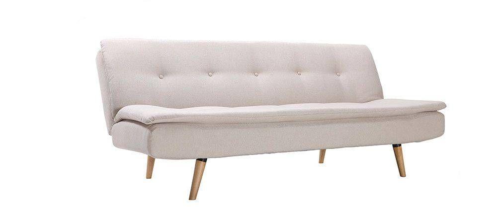 Senso Scandinavian Designer 3 Seater White Sofa Bed Sofas And