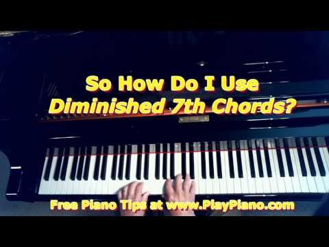 How To Use Diminished 7th Chords Piano Lessons For Adults Piano