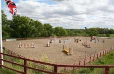 Show jumping arena at  Littlebourne Equestrian Centre