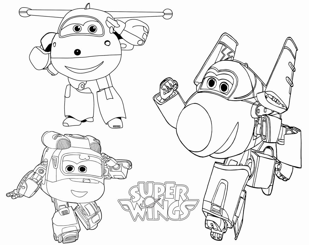Super Wings Printable Coloring Pages