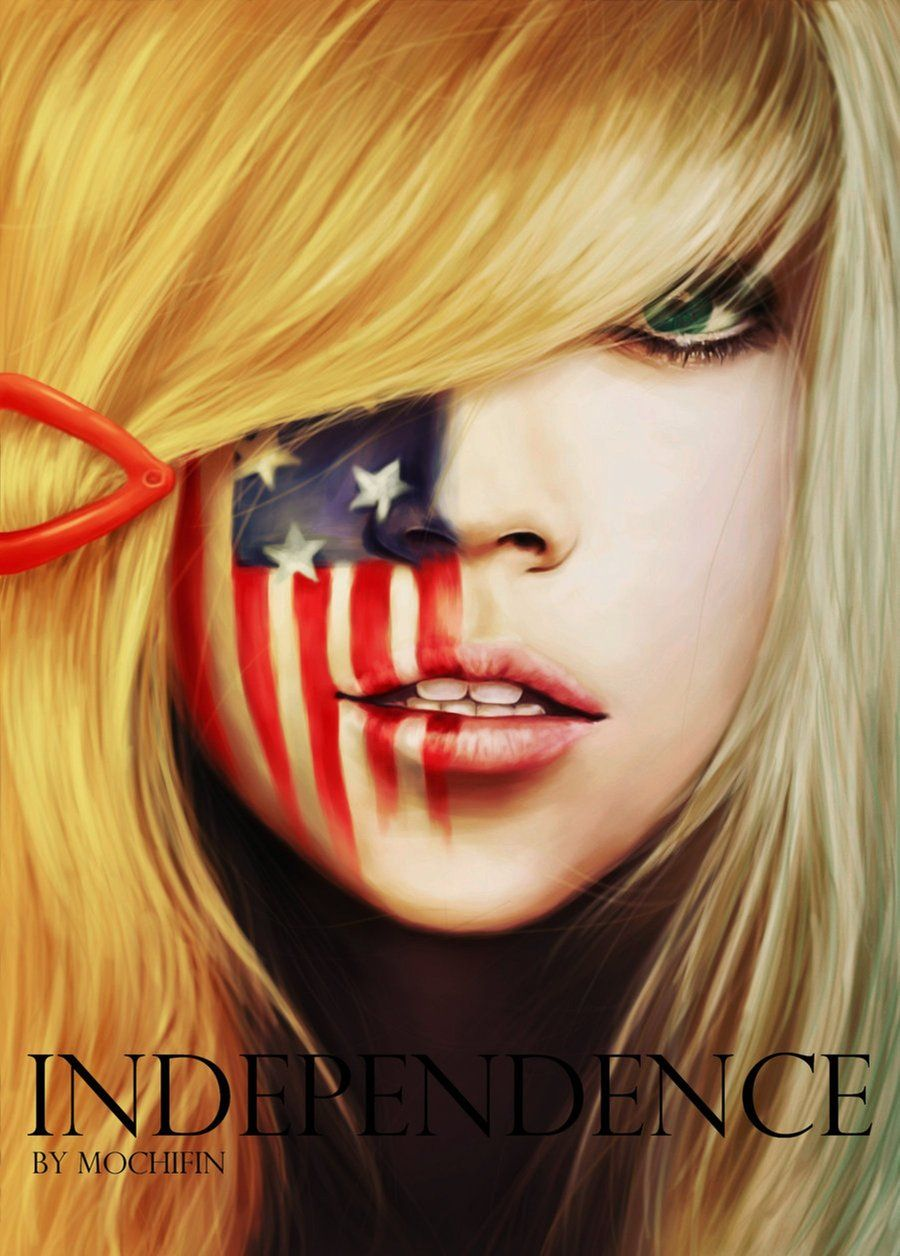 Independence 2 America By Mochifin On Deviantart 4th Of July Makeup Face Painting Designs Face Painting