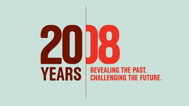 Years revealing the past challenging future