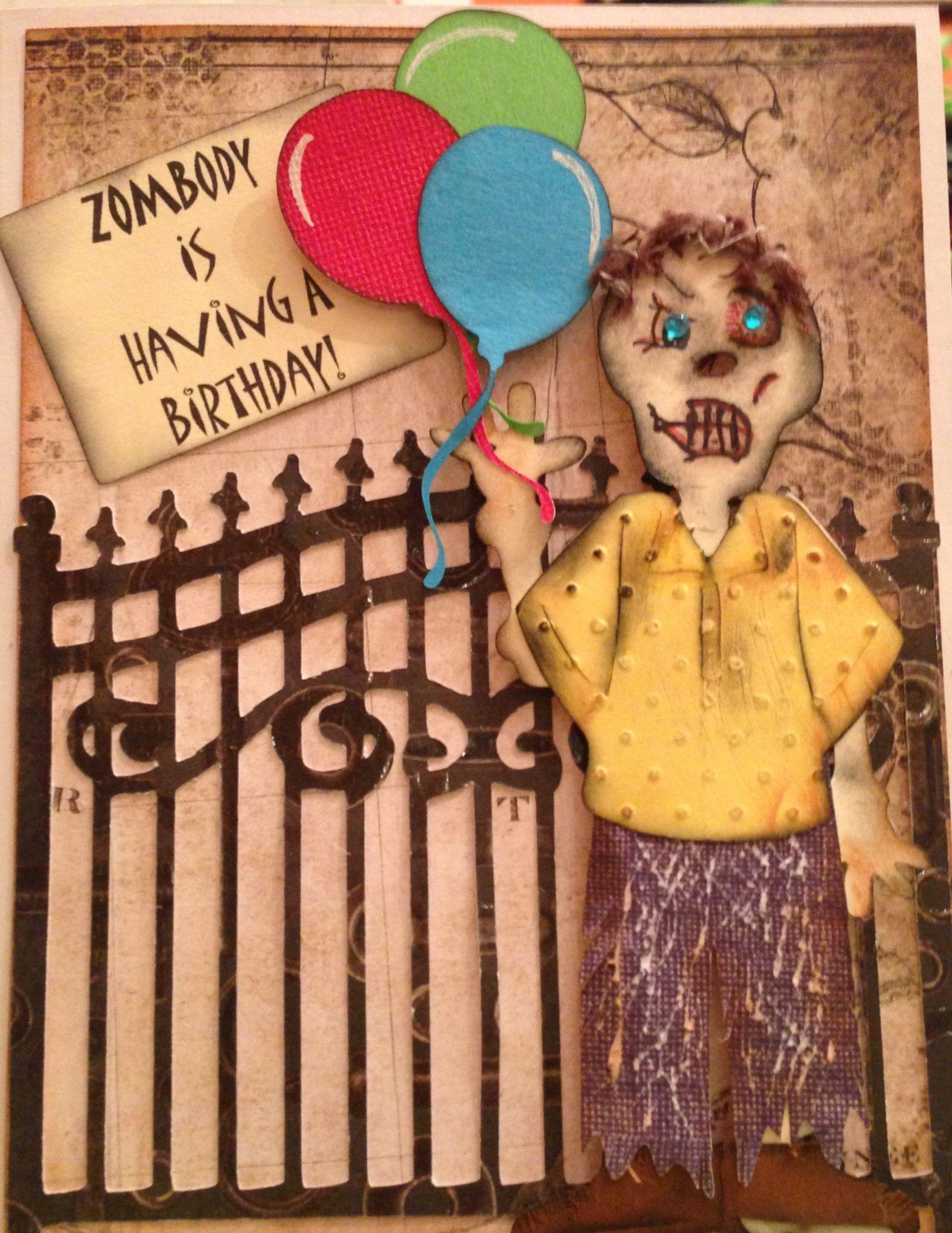 Zombie Birthday Card   Zombie birthday, Birthday cards, Diy