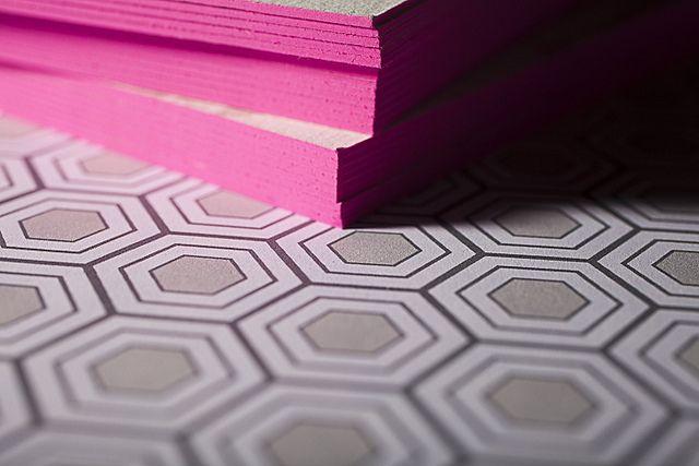 Thick edge painted invitation. http://helloloveblog.com