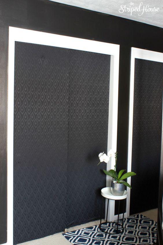 Closet Door Makeover With Fabric Closet Door Ideas