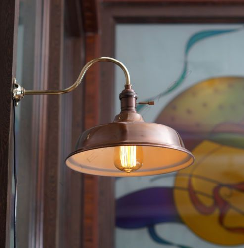 Details About Vintage Industrial Copper Shade Wall Lamp Retro Edison Wall Mount Diy Lighting Industrial Wall Sconce Wall Mounted Lamps Industrial Wall Lights