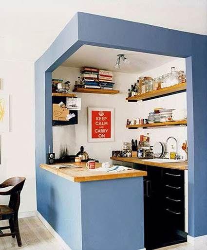 Muebles esenciales para una cocina pequeña   Cocina pequeña ...
