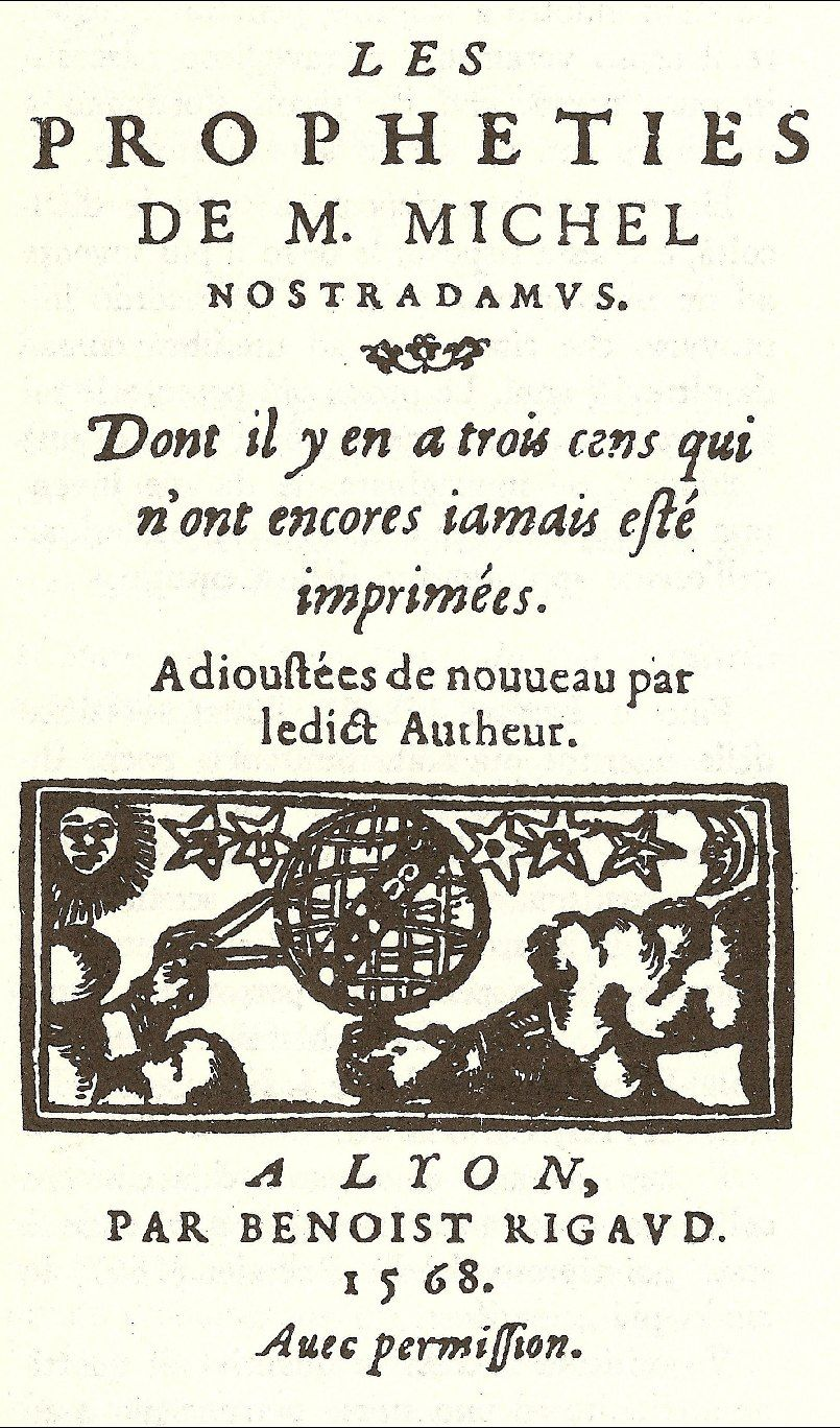Michel Nostradamus Les Propheties Death Of The Author Science Fiction Novels Collection Of Poems