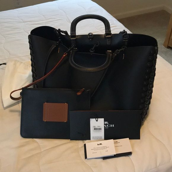 Shop Women s Coach Black Silver size 12.5 x 11 x 6.75 Bags at a discounted  price 92739f9849