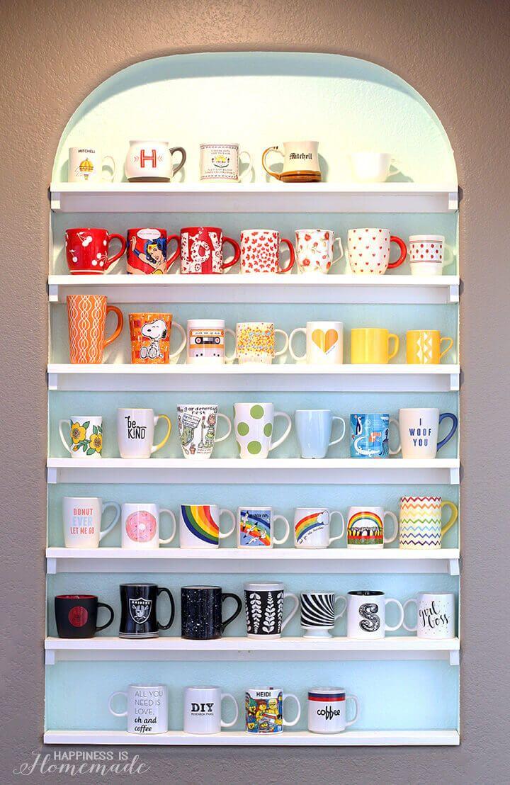 Fun And Creative Coffee Mug Organization Ideas Light Walls - Best coffee mug organization ideas