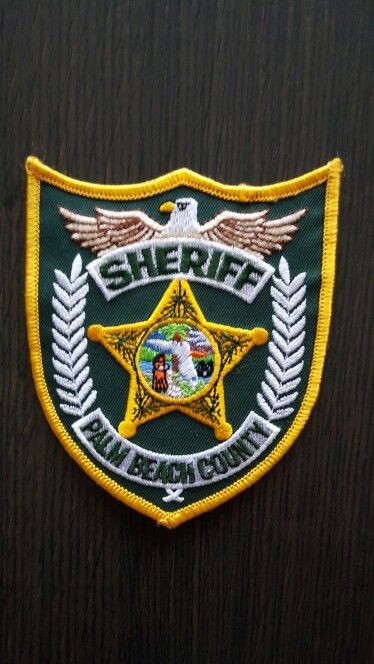 Sheriff Palm Beach County Police Patches Police Badge Sheriff Badge