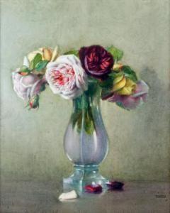 Isidore Rosenstock Vase De Roses Cvety Zhivopis Natyurmort