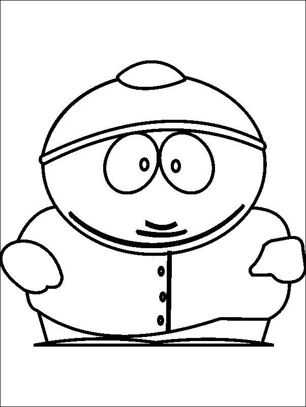 Free Printable South Park Coloring Pages Cartman Cartoon