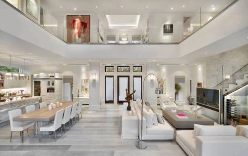 Image via We Heart It #dreamhouse #elegant #livingroom #room #white - hi tech loft wohnung loft dethier architecture