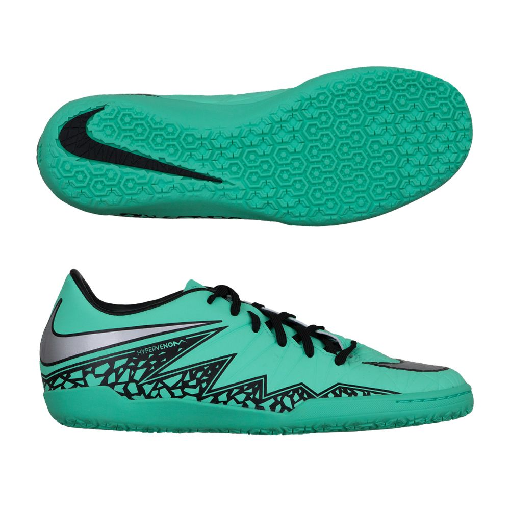 super popular 26982 dacf4 Nike HyperVenom Phelon II IC Indoor Soccer Shoes - Green Glow