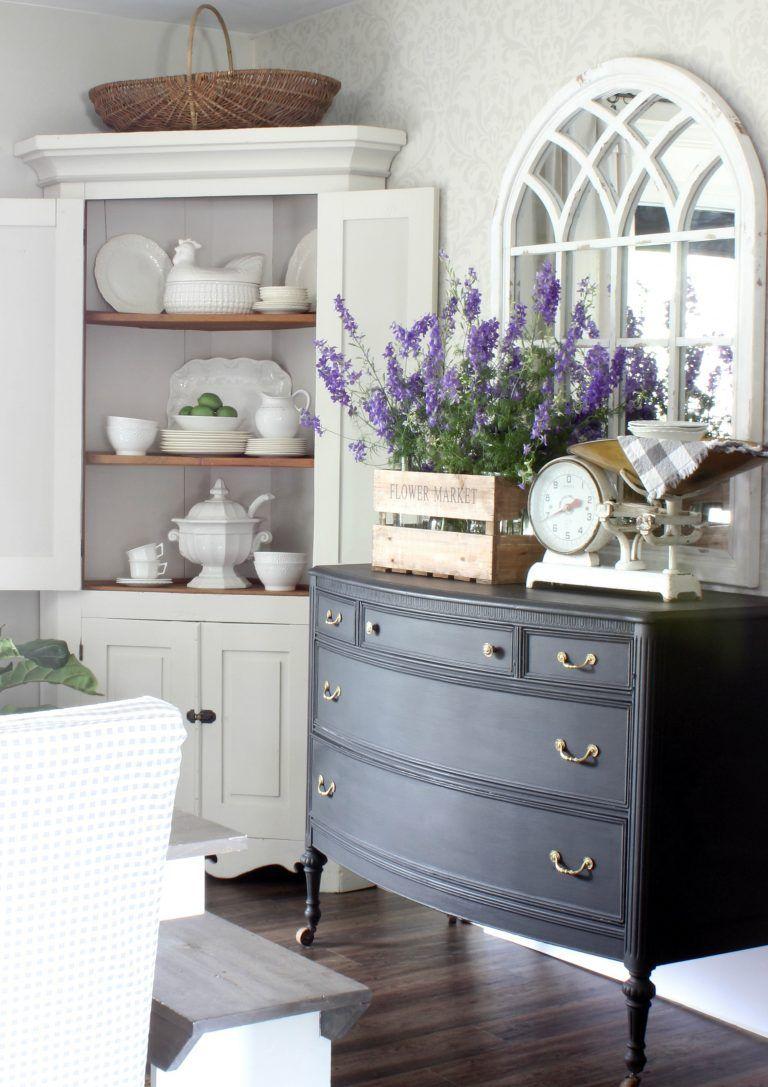 Dresser Paint Color Change To Black Farmhouse Dining Room Home Decor Black Furniture Living Room
