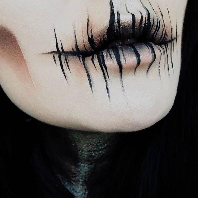 "Photo of Melt Cosmetics on Instagram: ""@ida_elina and her badass makeup skills!!! 💀  Eyeshadows: Dark Matter + The Rust stack #meltdarkmatter #meltrust #meltcosmetics"""