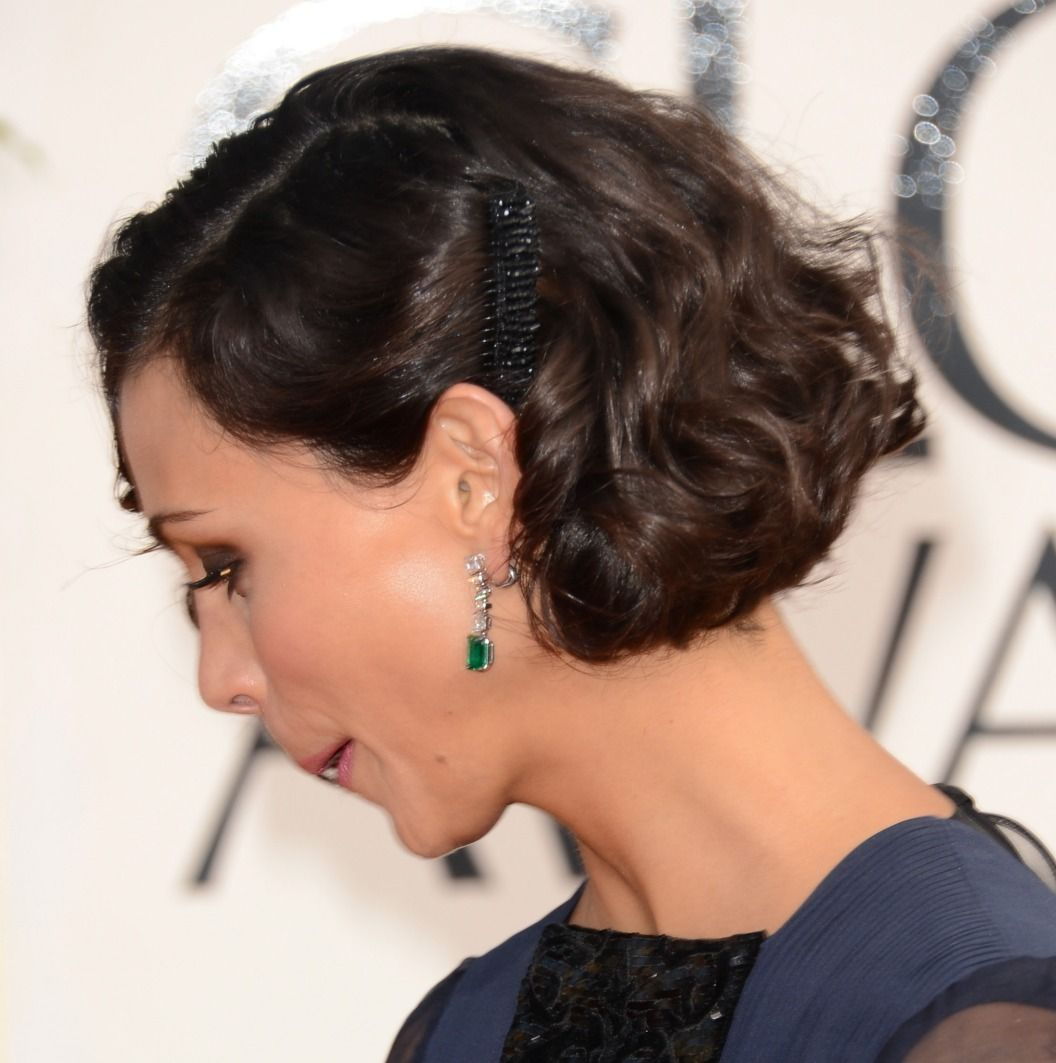 I like the location of the bling hair pinterest short curly