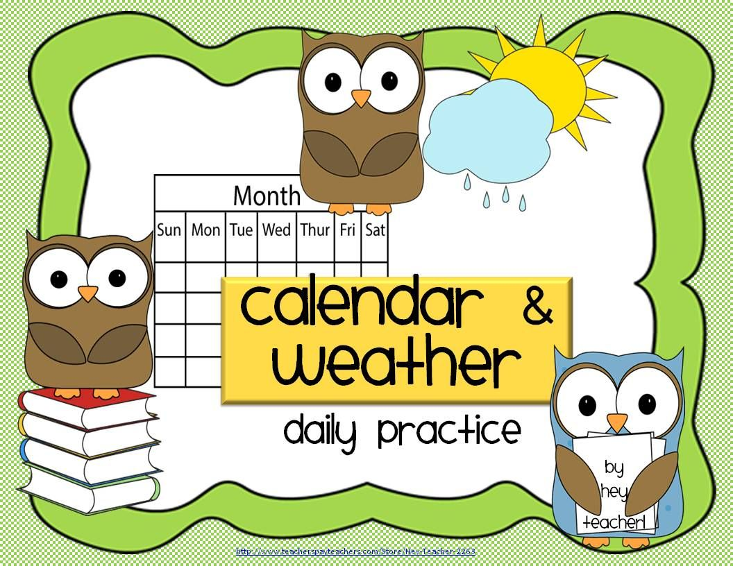 Monthly Calendars And Weather Differentiated