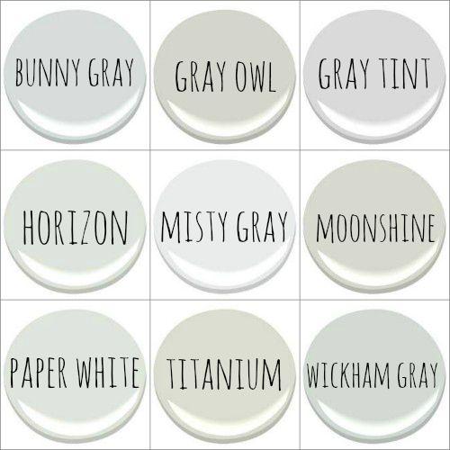 Benjamin Moore Bunny Gray Owl Tint Horizon Misty