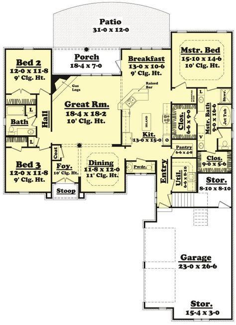 2200 Sq Ft House Plan Riverwalk 22 001 315 From Planhouse Home Plans House 2200 Sq Ft House Plans French Country House Plans Barndominium Floor Plans