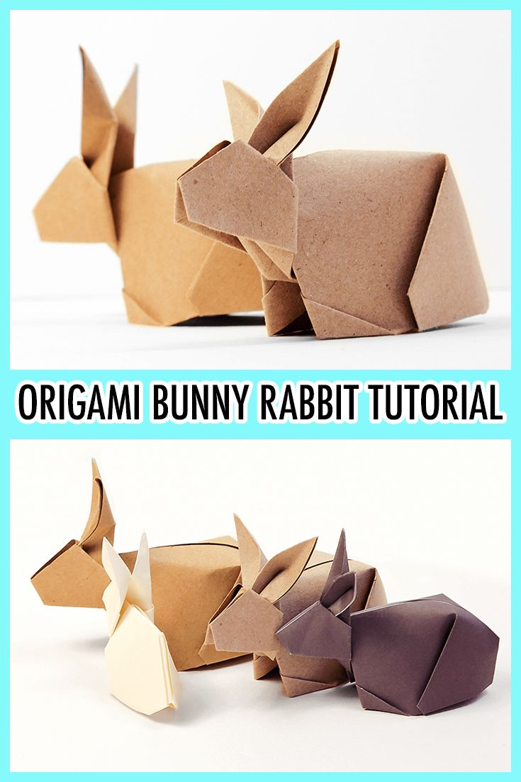 Origami Bunny Rabbit Tutorial – Paper Kawaii