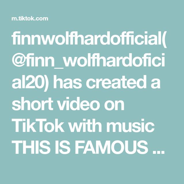 Finnwolfhardofficial Finn Wolfhardoficial20 Has Created A Short Video On Tiktok With Music This Is Famous Thank Uu Pov En El Futuro Despiertas Siendo Novi