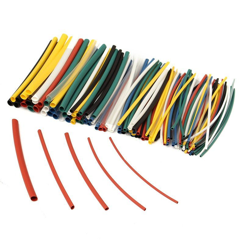 140Pcs Car Electrical Cable Heat Shrink Tube Tubing For Wrap Sleeve ...
