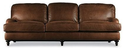 love the warm leather comfy colro/the dive in comfort/THE LEGS!! (traditional sofa beds by Restoration Hardware)