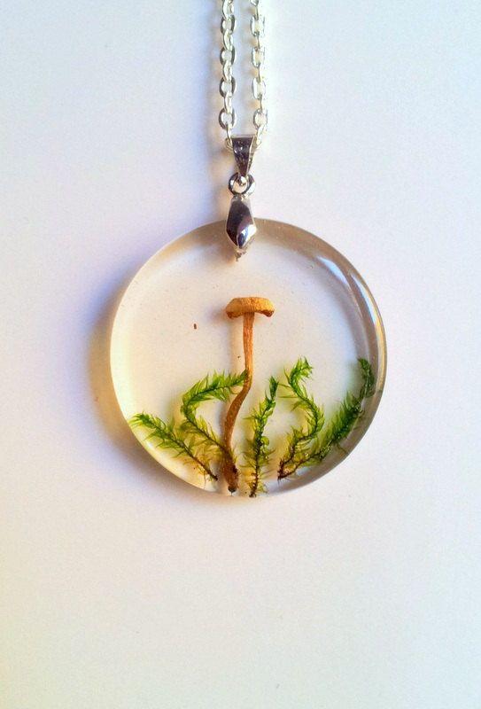 Real Mushroom Necklace Magic Mushroom Necklace by SimpleJC on Etsy