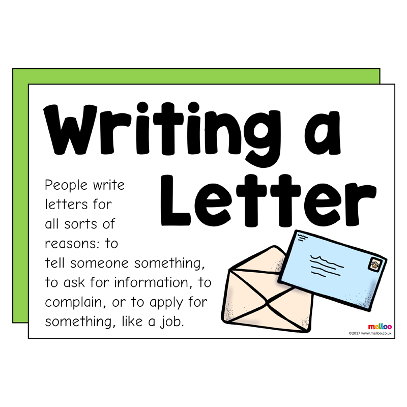 Writing a Letter Writing, Formal letter structure, Lettering