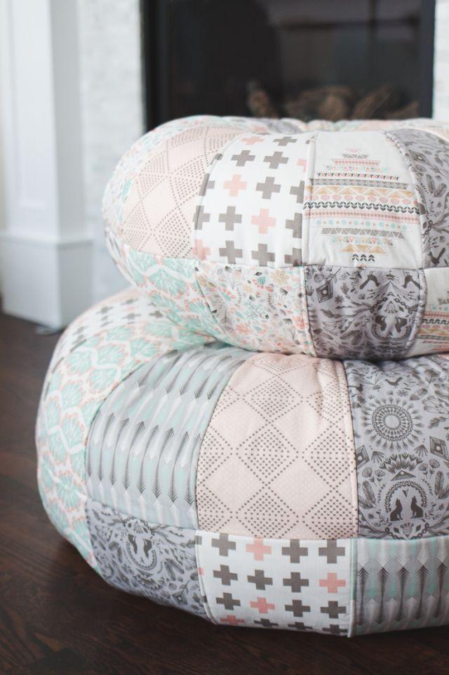 Amy Butler Honey Bun Poufs At Sewbon Littlediy Pinterest Inspiration Amy Butler Pouf Ottoman
