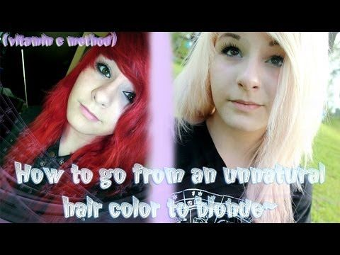 How To Go From An Unnatural Hair Color To Blonde Vitamin C Method Youtube Unnatural Hair Color Hair Dye Colors Hair Color Remover