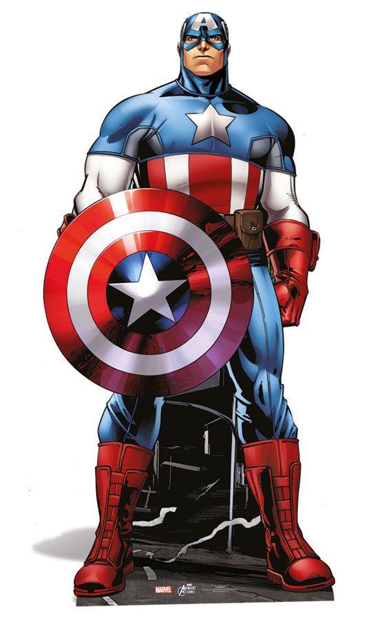Captain America Lifesize Cardboard Cutout Standee Standup Marvel The Avengers Super Hero Marvel Captain America Captain America Comic Captain America