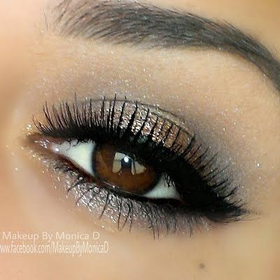 GODDESS #makeupforever #eyeshadow #gorgeous Shimmery neutral hues and fierce cat eye in black completes this night out ready look. Take a peek at MAKE UP FOR EVER'S line of Artist Shadow for an intense color payoff.