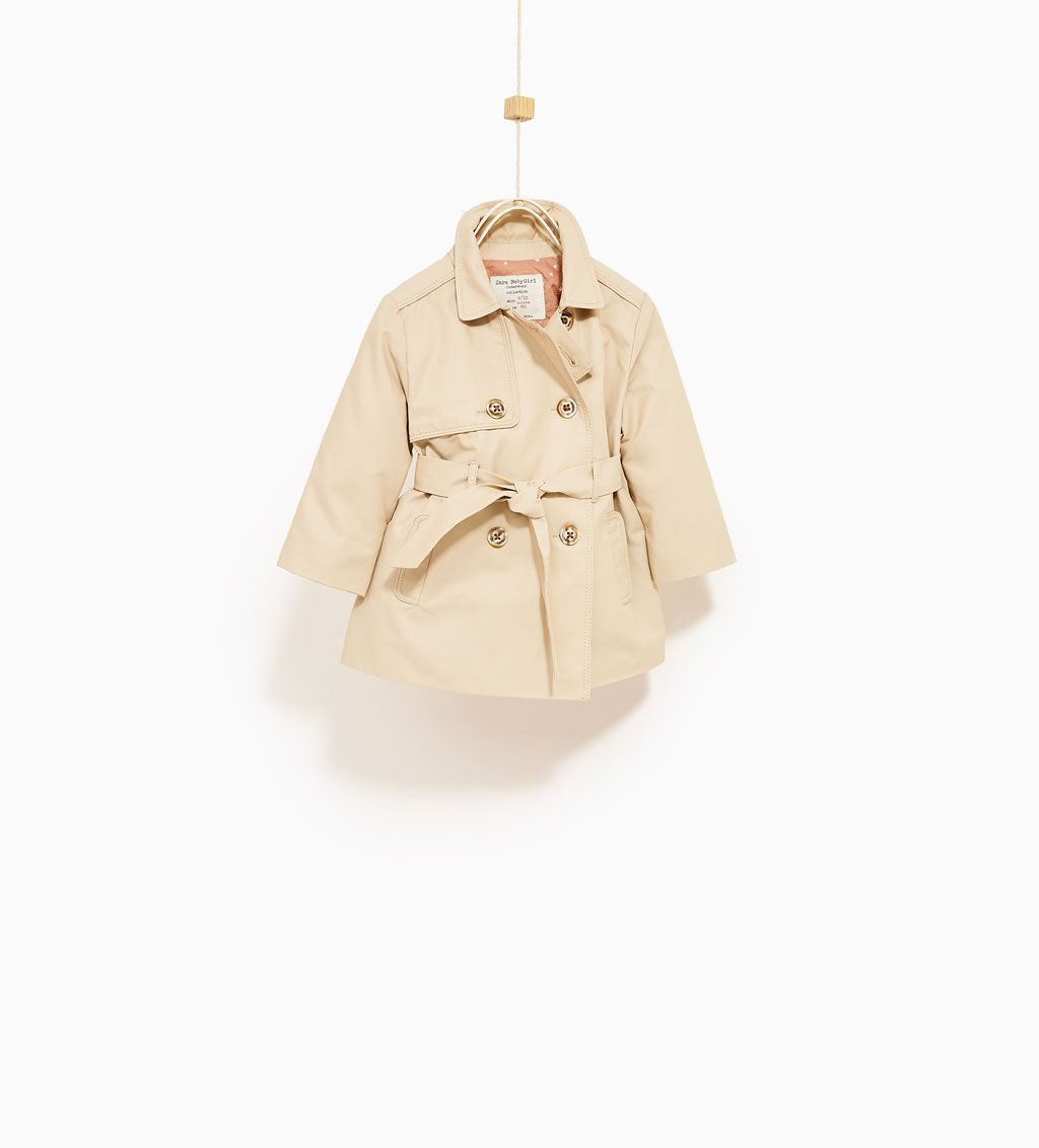 Star Lined Trench Coat Jackets Baby Girl 3 Months 4