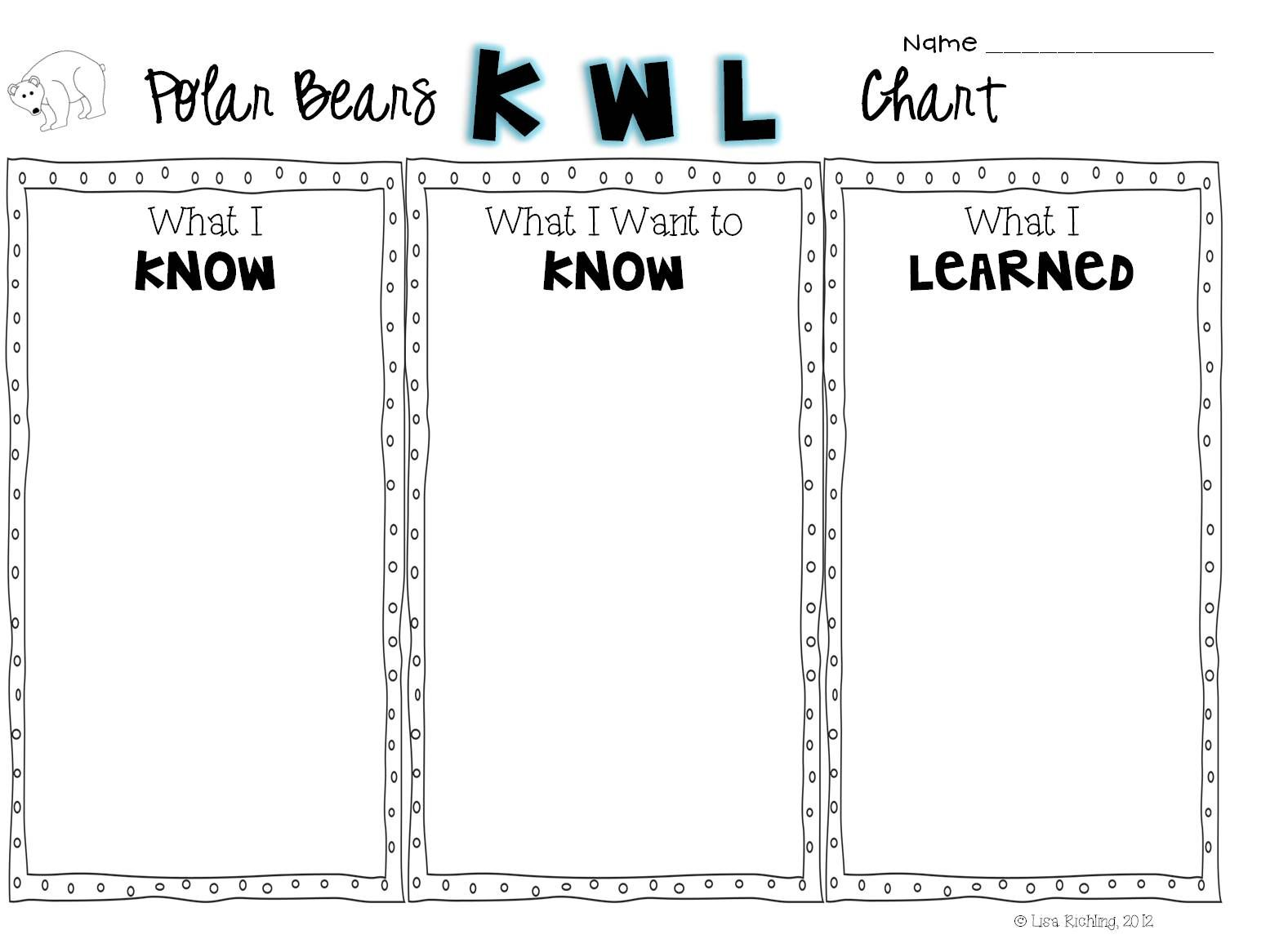 Polar Bear Kwl Chart  This Is A Polar Bear Kwl Chart Circle Map