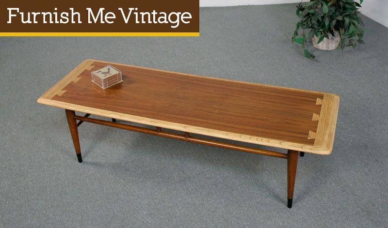 Refinished Mid Century Modern Lane Acclaim Coffee Table Mid