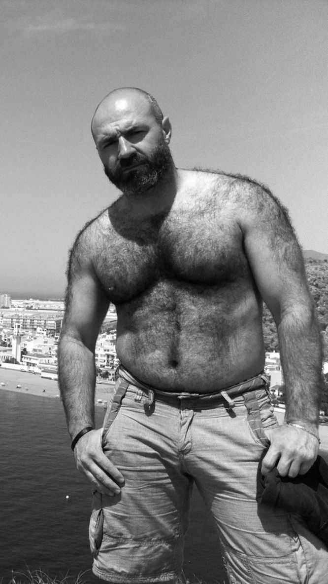 hairy hot black muscle big