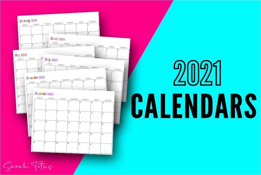 Custom Editable 2021 Free Printable Calendars - Use them ...
