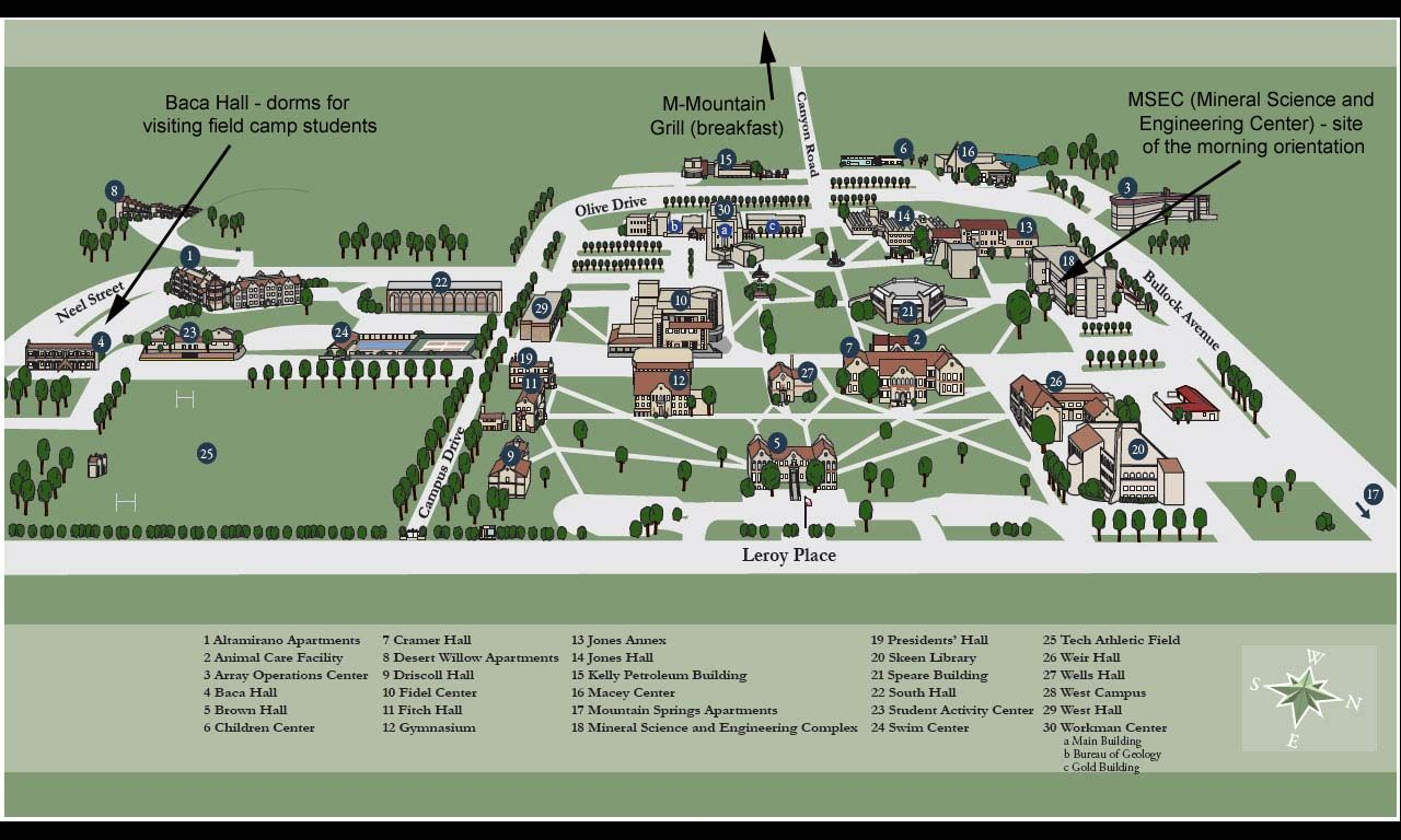 Nmt Campus Map Alma Maters Campus Map Map Photo Wall