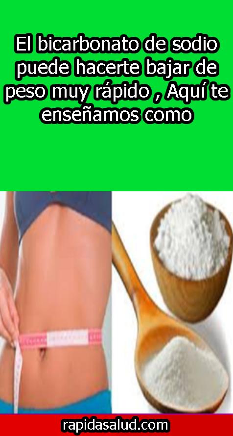 El bicarbonato de sodio puede hacerte bajar de peso muy ...