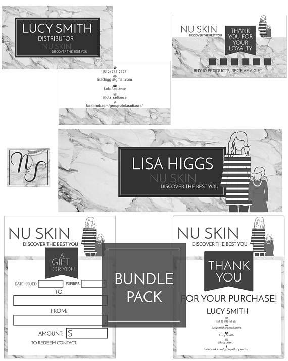Carte De Visite NuSkin Printable Marketing Kit Direct Sales Business Card NU