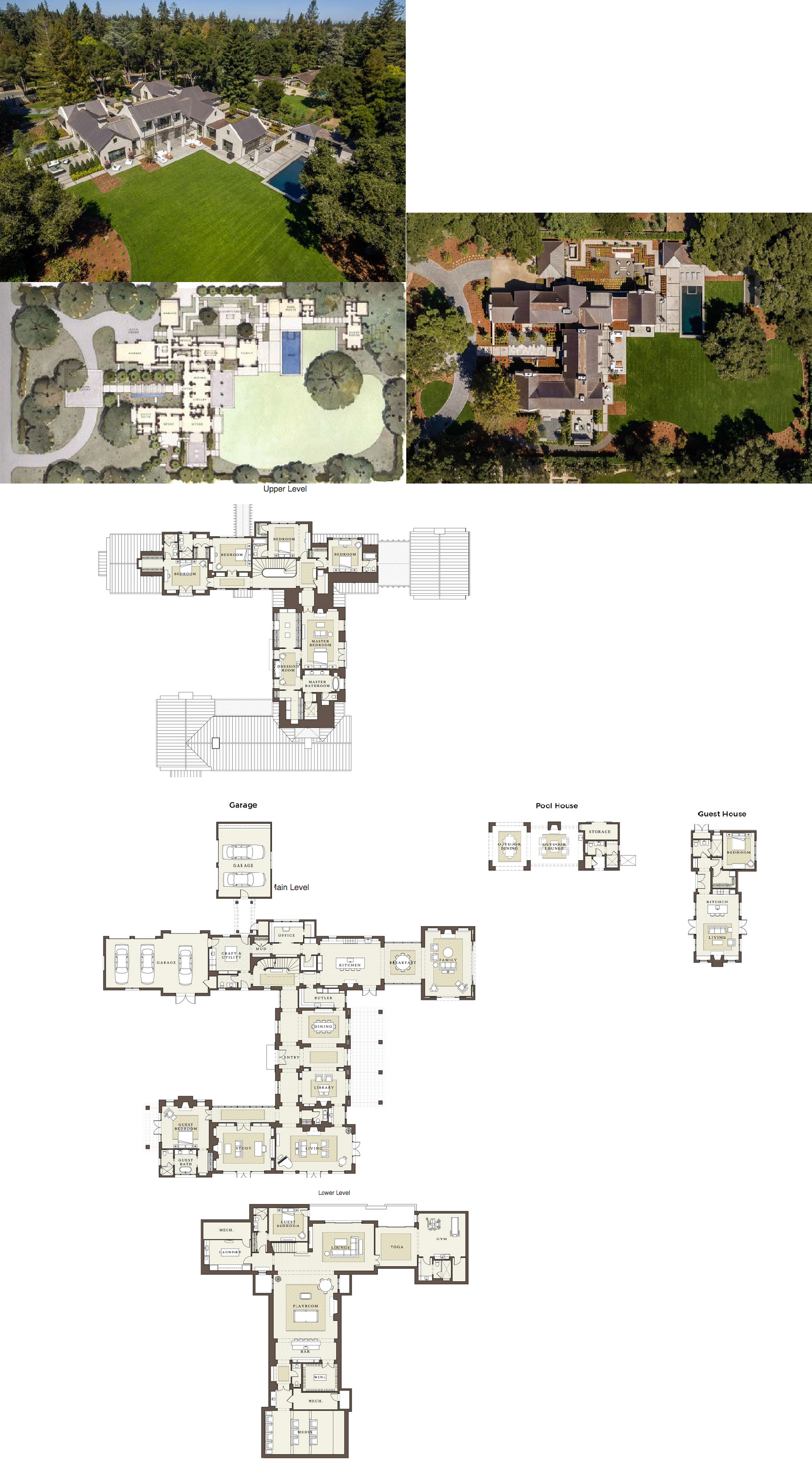 36 8 million newly built contemporary estate in atherton for Plans d arkitek