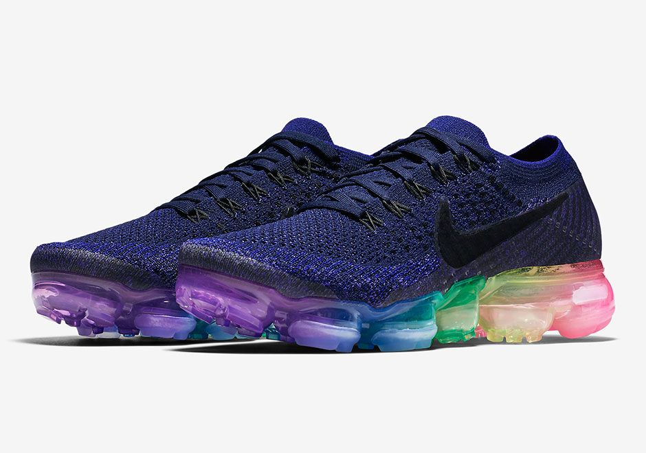 "4363cce4a289a Good news for all you sneakerheads out there  the Nike Vapormax ""Be True""  will release in both mens and womens sizes. Featuring a blue Flyknit upper  and a ..."