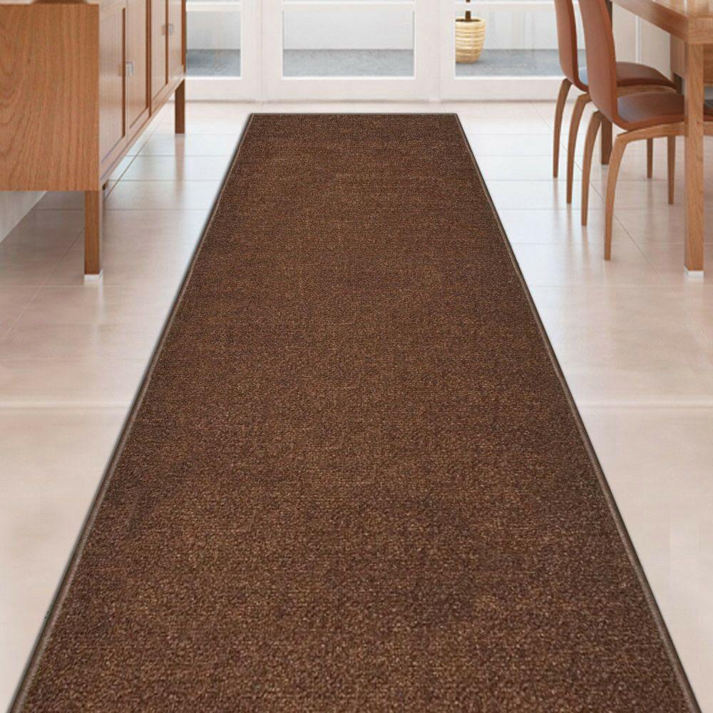 Best Details About Custom Size Solid Brown Stair Hallway Runner 400 x 300