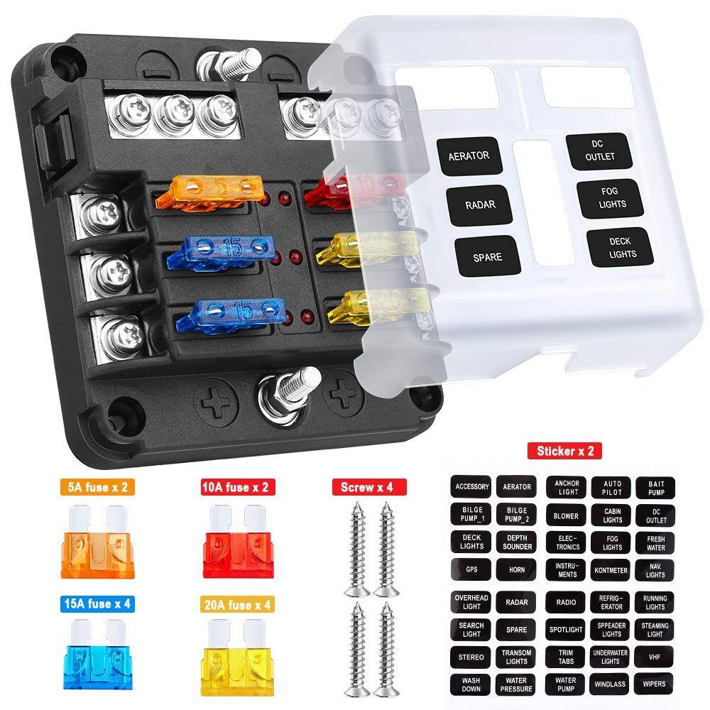 rv fuse box covers electop 6 way blade fuse block fuse box holder  6 circuit car ato  way blade fuse block fuse box holder