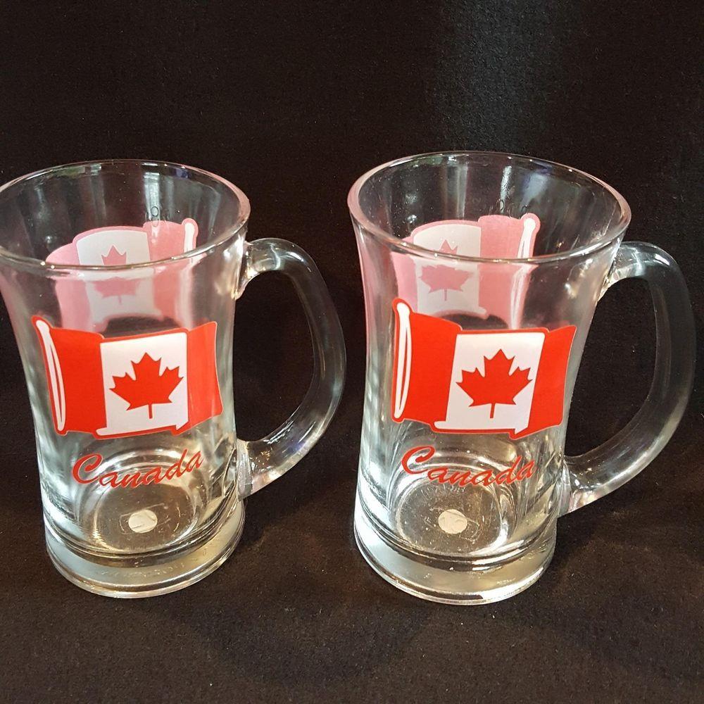 Details about Canadian Flag Maple Leaf Canuck Mug Beer