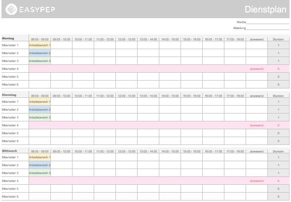 Anmeldung Fur Die Easypep Dienstplan Vorlage Dienstplan Excel Vorlage Briefkopf Vorlage